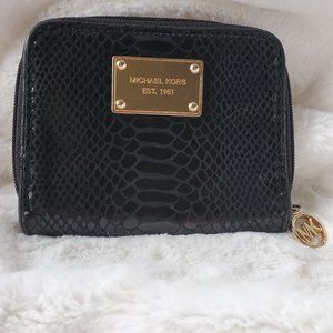 Michael Kors Python Black Leather Wallet